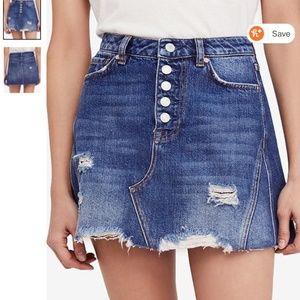 jean skirt size 26 free people